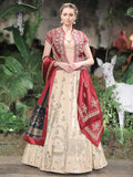 Velvet Lehenga With Jacket Set (3 pc) SK-33
