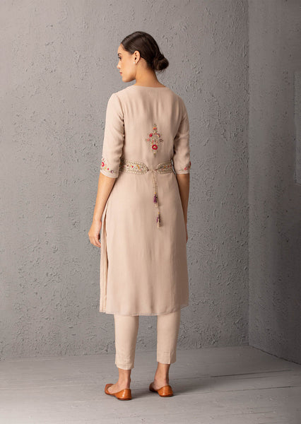 Toosh kurta set with embroidered belt & pant ( EM - 07 )