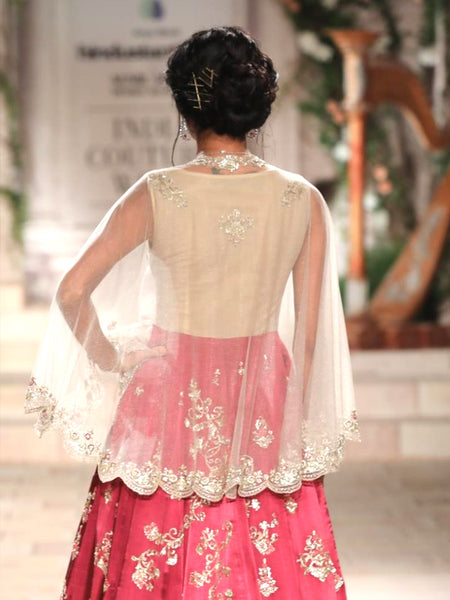 Ruby Embroidered Dress With Cape (3 pc) JP-15