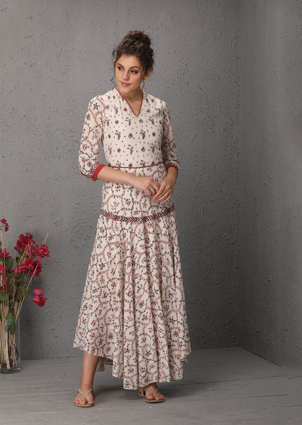 Ivory chintz printed dress (MM-02) JUST ADDED