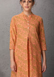 Orange printed tunic (PT-03) JUST ADDED