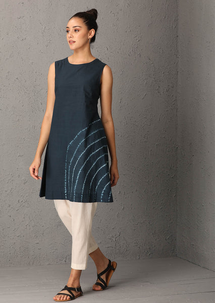 Indigo shibori tunic (USW-05A) JUST ADDED