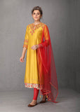Mustard & coral tunic set (VOF-08) JUST ADDED