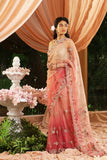 Stunning Embroidered Old Rose Shaded Saree Set (JP-35A/SK-02)