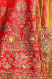 Traditional Motifs Embroidered Hot Pink Lehanga set (KZ-12)