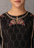 Black & Toosh embroidered kurta set  ( YMN - 13B) JUST ADDED