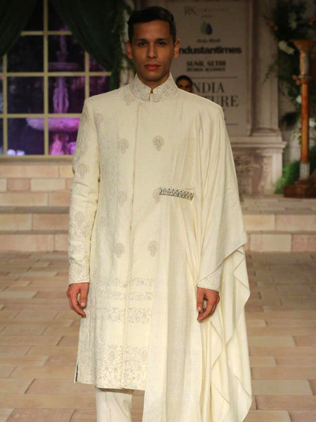 Embroidered Sherwani Set (3 pc) JPM-8