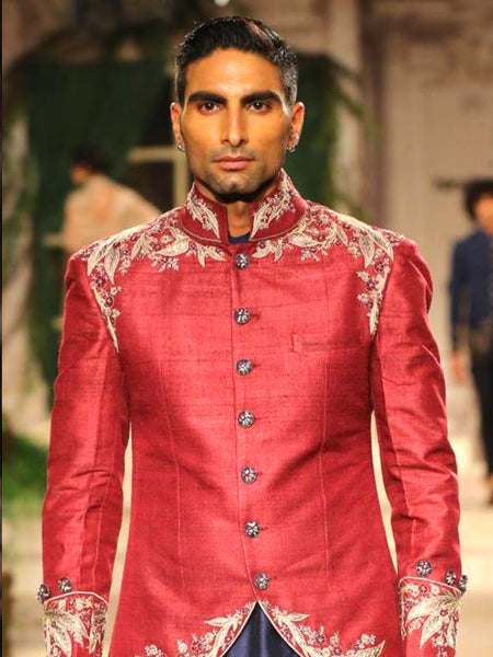 Ruby Sherwani Set (3 pc) JPM-06