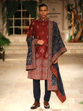 Ruby Sherwani With Dushala Set (4 pc) JPM-11