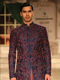 Navy Sherwani Set (3 pc) JPM-04