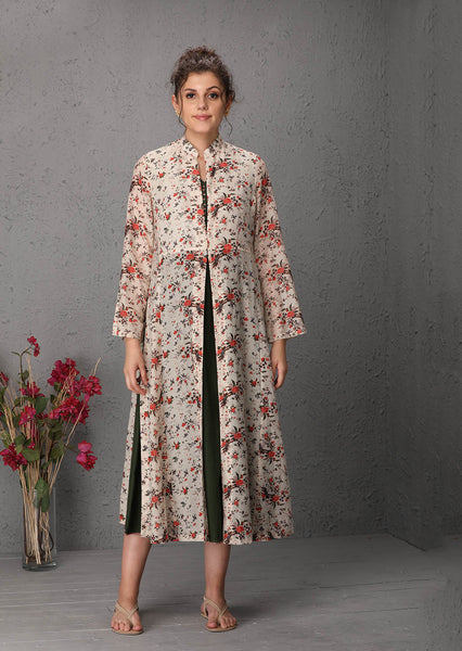 Floral printed jacket tunic (LW-27) JUST ADDED