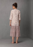 Ivory chintz printed dress (LW-19)  JUST ADDED