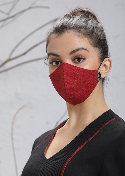 Red Cotton Mask (M-13)
