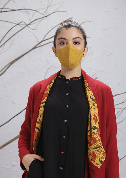 Mustard Mask with checks (M-18)