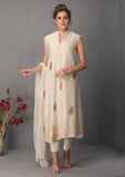 Ivory tunic set with floral bootis (SN-02A)  JUST ADDED