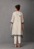 Asymmetrical ivory tunic (SW-06A) JUST ADDED