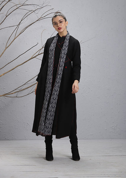 Black Woolen Cape (WL-15B)
