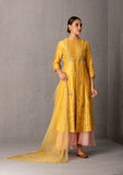 Mustard Chanderi tunic set (YMN-15)