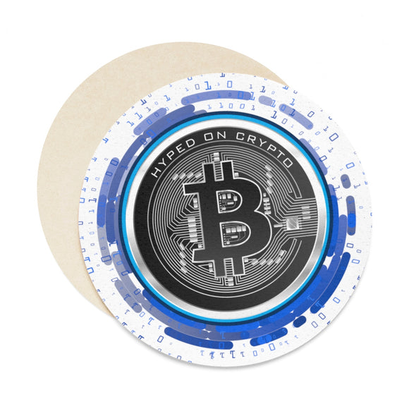 HoC Bitcoin - Round Paper Coaster Set - 6pcs