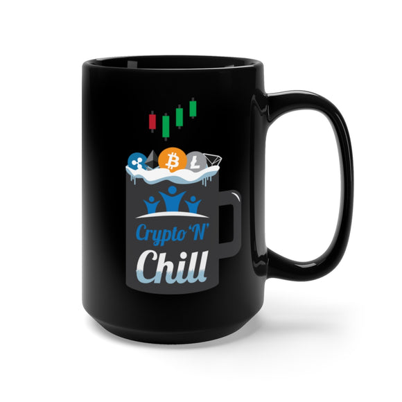 HoC Crypto'N'Chill - Black Mug 15oz