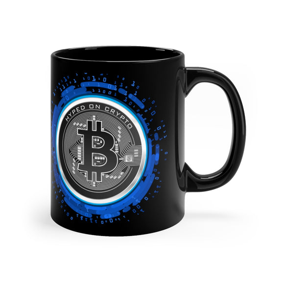 HoC Bitcoin - Black mug 11oz