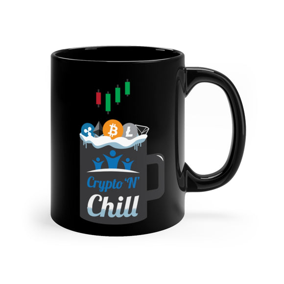 HoC Crypto'N'Chill - Black mug 11oz