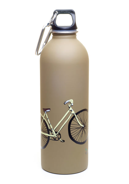 1 liter bicycle bike stainless steel reusable water. Black Bedroom Furniture Sets. Home Design Ideas