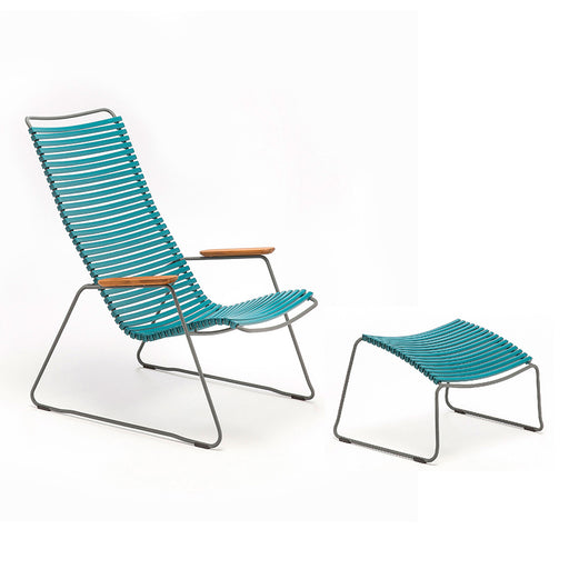 HOUE CLICK Lounge Chair with Footrest - Petrol