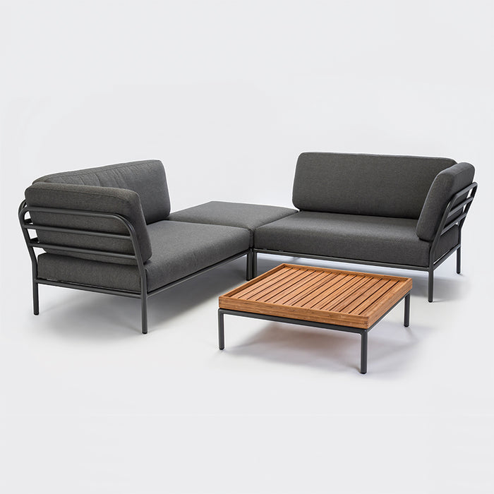 LEVEL Lounge Bamboo Table with Left and right LEVEL Sofas