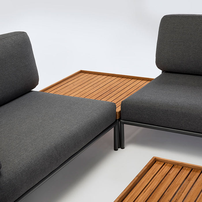 LEVEL Lounge - Right & Left Sofa Modules with Bamboo Coffee Table
