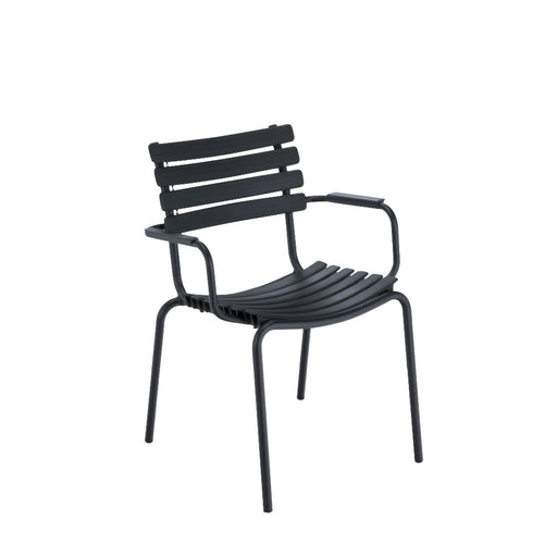 HOUE CLIPS Dining Chair - Black Frame & Aluminium with Black Lamellas