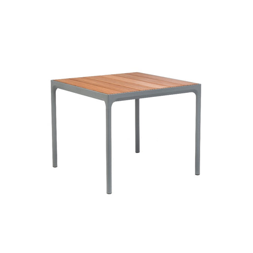 HOUE FOUR Table 90x90 Bamboo Top / Grey Frame