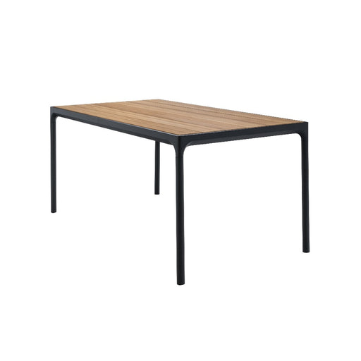 HOUE FOUR Table 160x90 Bamboo Top / Black Frame