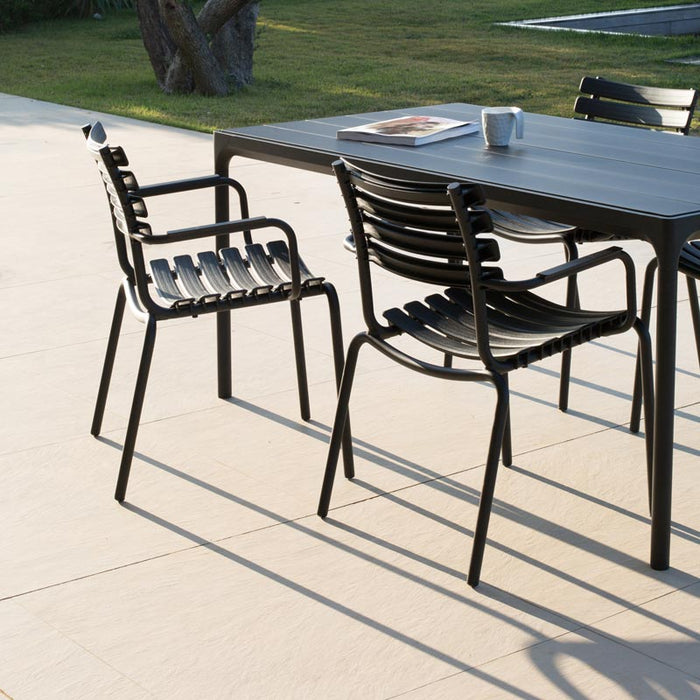 FOUR Table 160x90 Metal Top / Black Frame