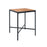 FOUR Indoor/Outdoor Bar Leaner Table 90x90 Bamboo Top / Black Frame