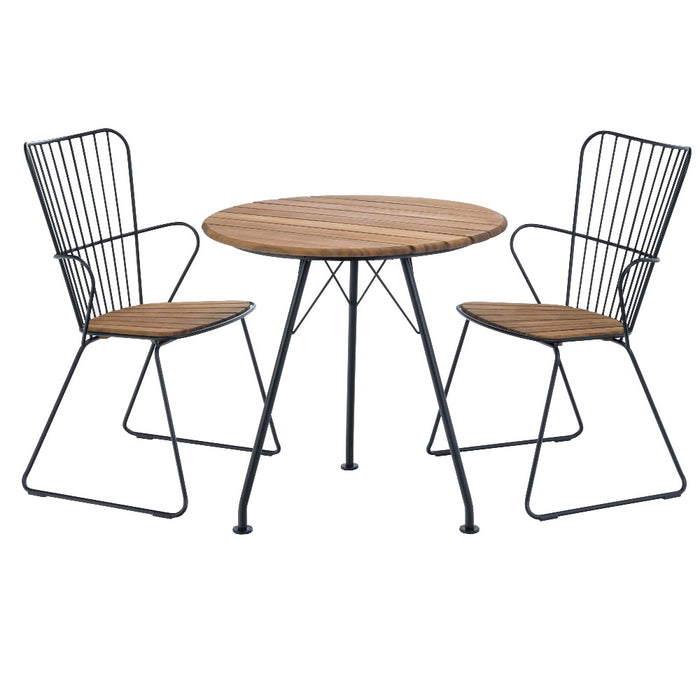 HOUE CIRCLE .74 Cafe Table & PAON Chairs