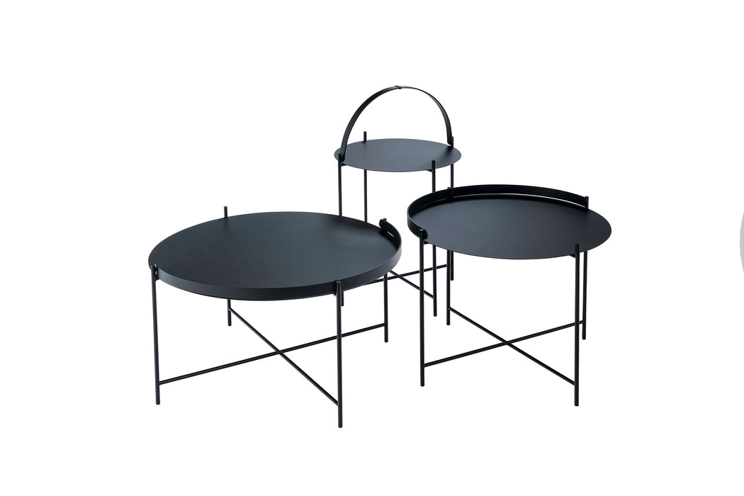 EDGE Indoor/Outdoor Tray Table Ø62 cm - Black