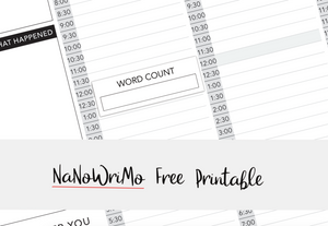 NaNoWriMo (+ Some Free Stickers!)