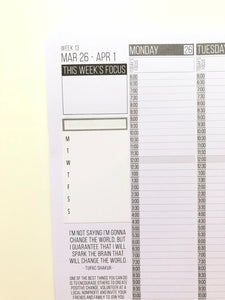 Passion Planner Blank Weekly Stickers for Compact, Pro, and Classic