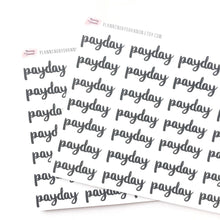 Payday Planner Stickers - Matte Black
