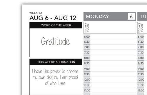 Word of the Week and Weekly Affirmation Stickers