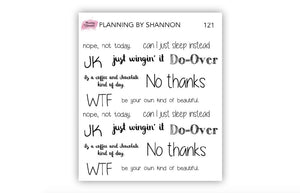 Adulting Quotes Planner Stickers - Adulting Fails, Inspirational, Mental Health