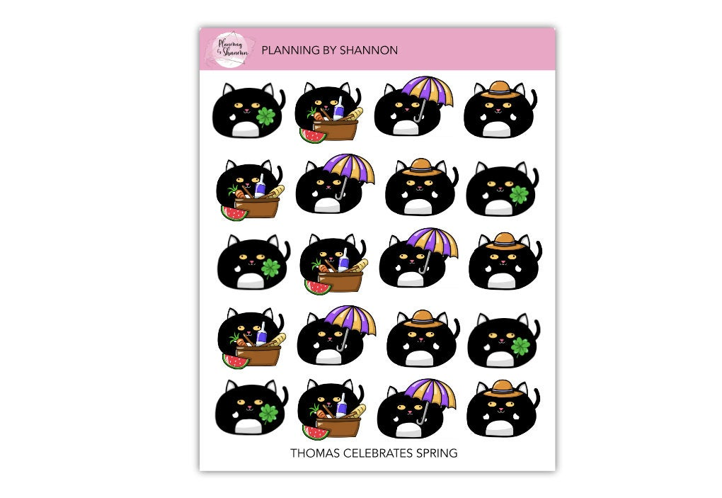 Thomas Celebrates Spring • Planner Stickers