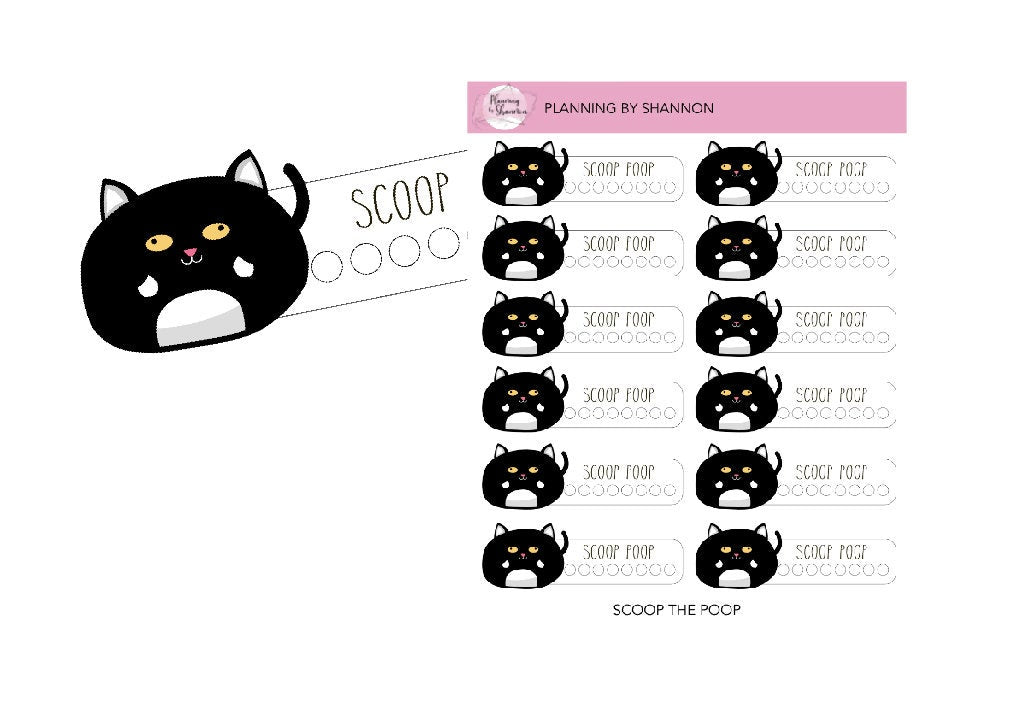 Thomas Scoops the Litter Box • Planner Stickers