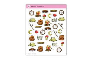 Camping Trip Planner Stickers