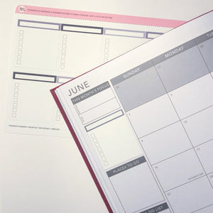 Passion Planner Monthly Task Boxes