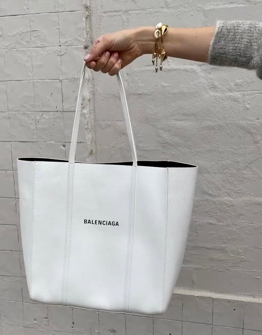 Balenciaga white tote with dust bag #1528