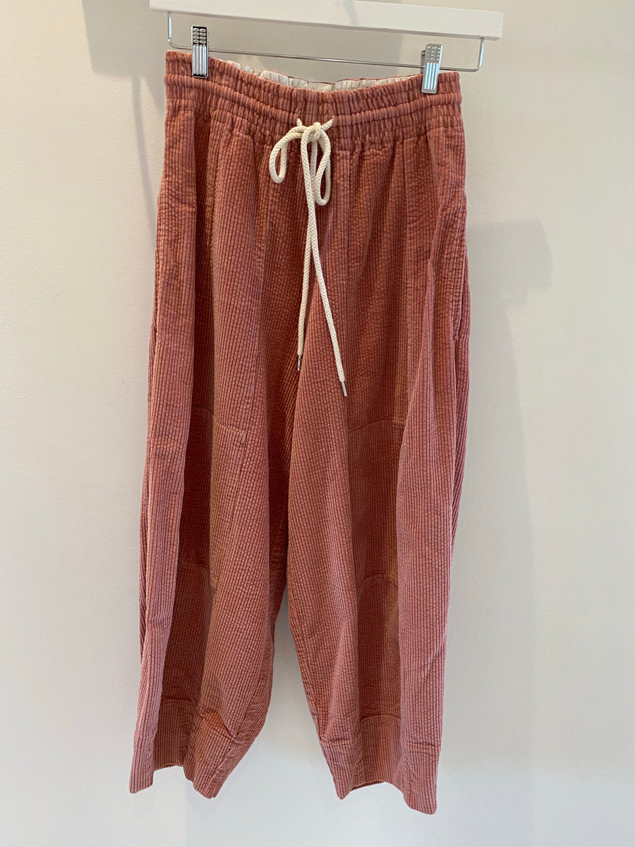 Bassike pink corduroy pants Size 0 #1238