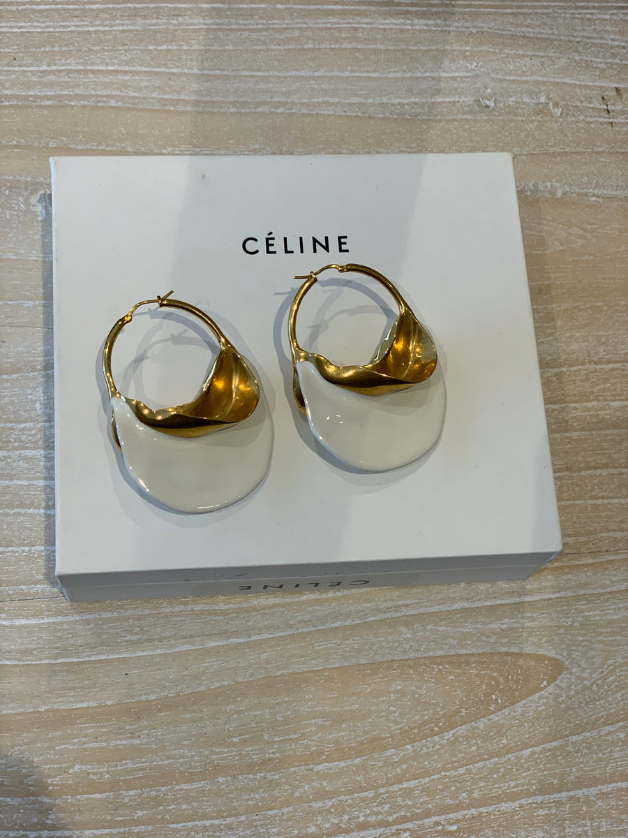 Celine gold hoop earrings