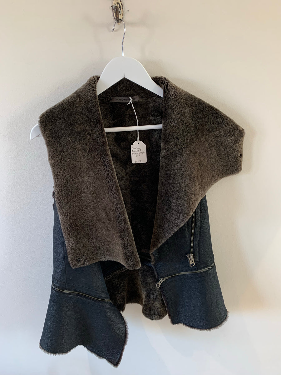 Scanlan Theodore shearling vests #1464